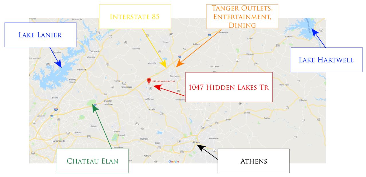 1047 Hidden Lakes - Map